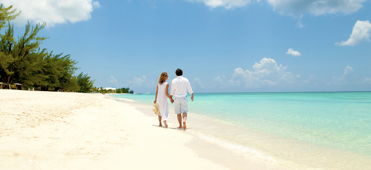Couple on Cayman Islands Beach