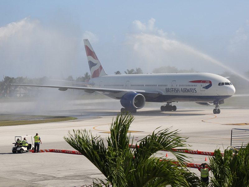 The new BA 777 flight to the Cayman Islands