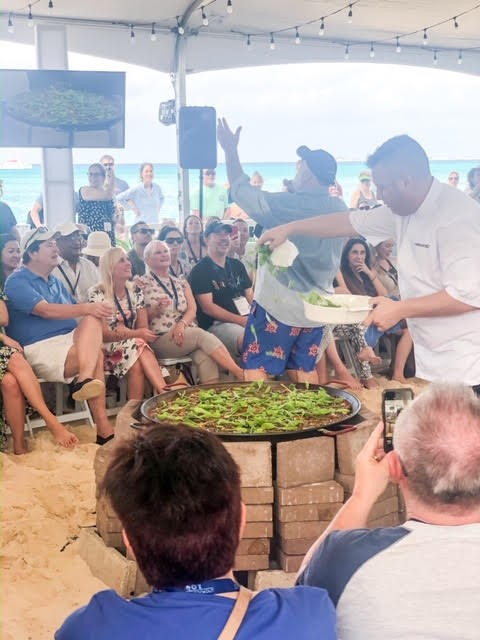 Jose Andres Paella Demo/face off